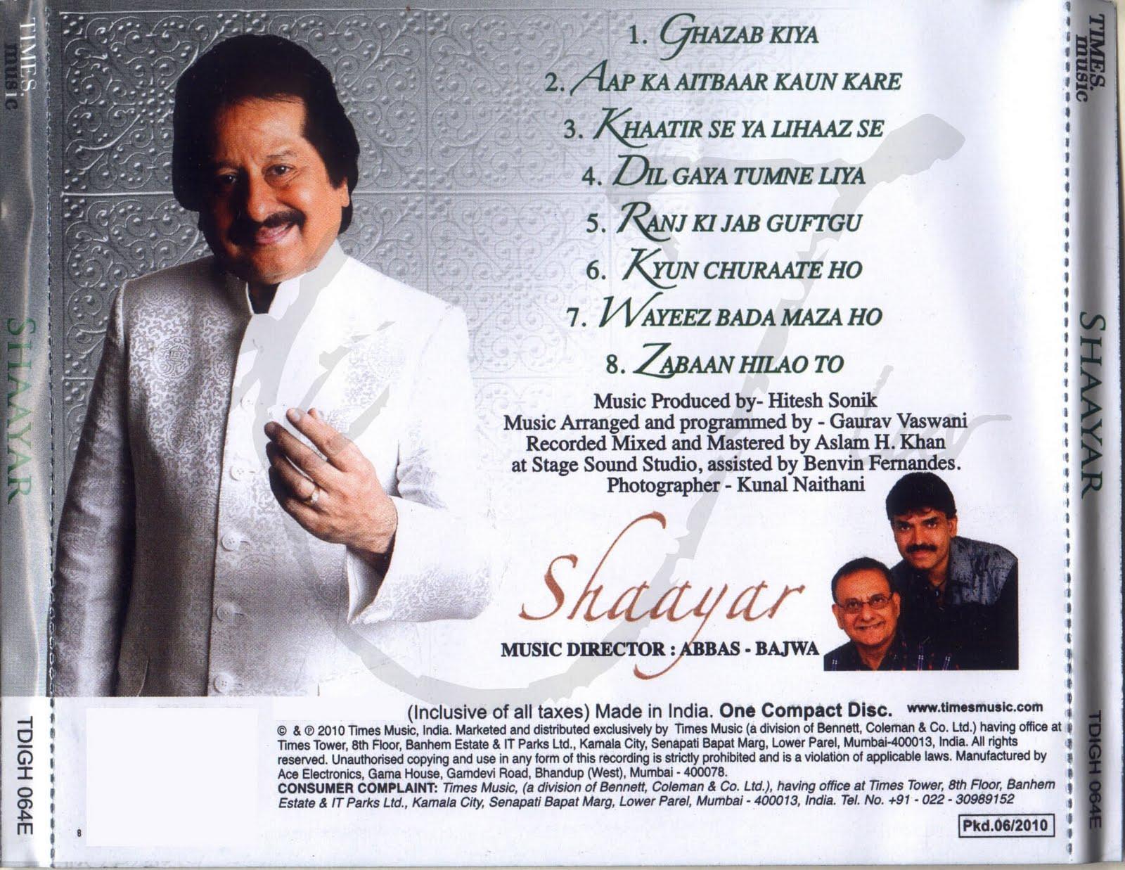 movies,music,downloads: Shaayar Pankaj Udhas 2010 Ghazal ...