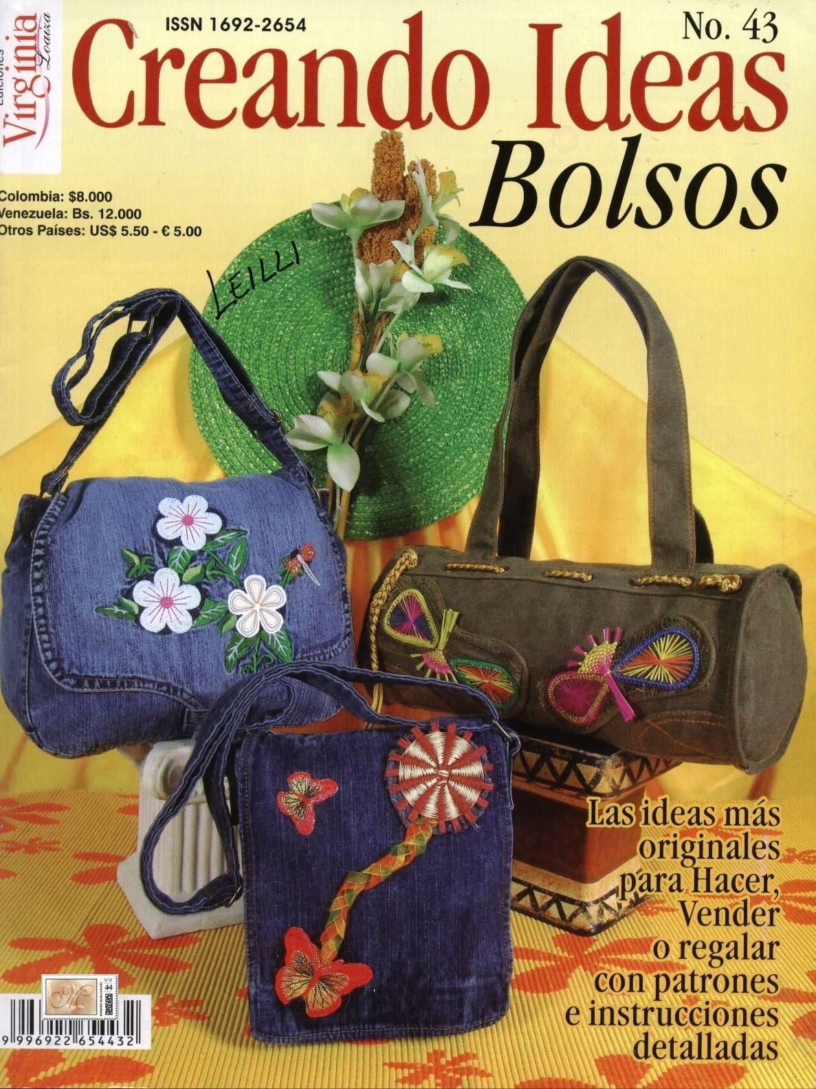 Revista: Creando ideas No. 43. Bolsos