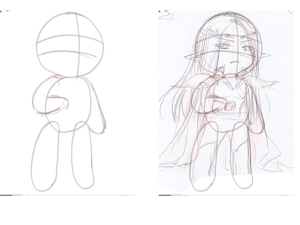 how to draw chibi the outline