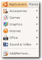 menu aplikasi ubuntu