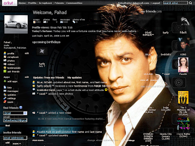 "NOW DOWNLOAD THE LATEST ""SHAHRUKH KHAN"" ORKUT THEME ON UR PROFILE BY"