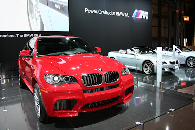 BMW X6 M red side view