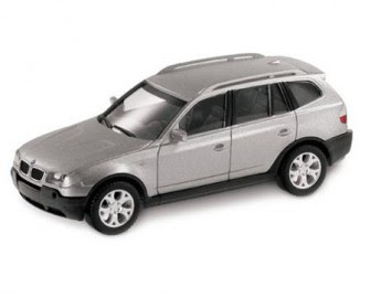 miniature BMW X3 Titanium Silver