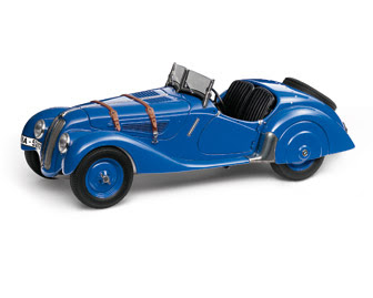 BMW 328 Roadster blue miniature