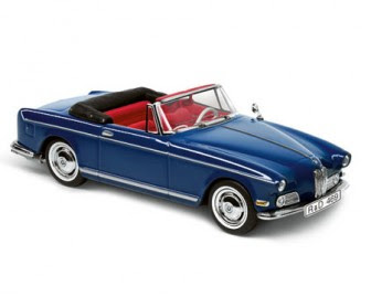 miniature BMW 503 Cabrio blue