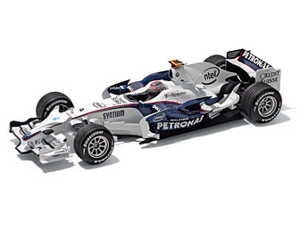 BMW Sauber F1 Race Car Robert Kubica miniature