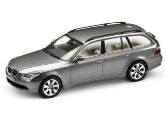 BMW 5 Touring Silver Grey miniature
