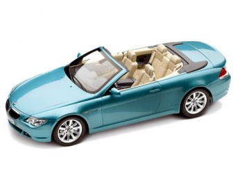 BMW 6 Convertible Blue miniature