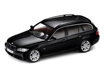BMW 3 E91 Black Touring miniature