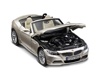 miniature BMW Z4 front view