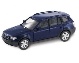 BMW X3 Blue miniature Mystic