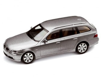 BMW 5 Series touring Silver Grey miniature