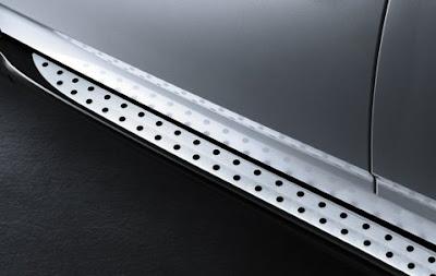 Aluminium running boards BMW X3