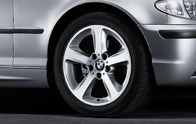 BMW 3 Series complete wheel and tyre set