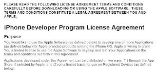 Desvelada licencia de Apple para aplicaciones
