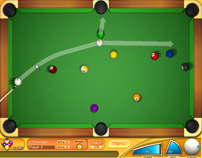 billiard balls that illuminate