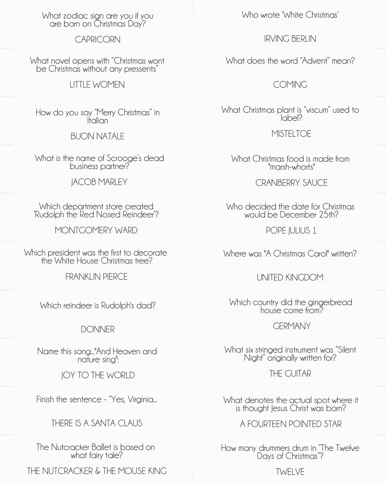 40 christmas trivia questions and answers robynsonlineworld MEMES