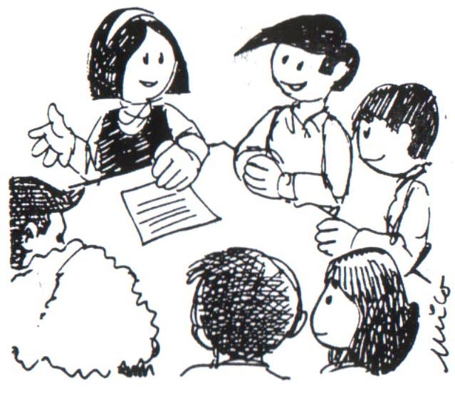 Dibujos dos niños que estan conversando - Imagui