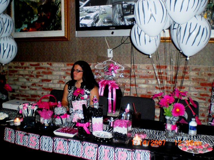 pink zebra baby shower a to zebra celebrations