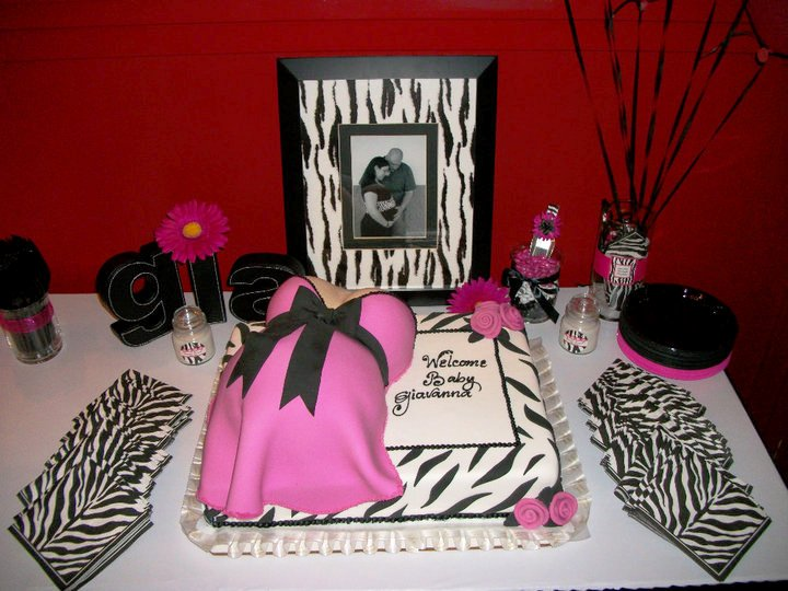 Pink animal print baby shower - photo#19