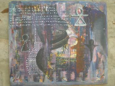 FEMME ET VIE,2010,50x60Cm,acrylic on canvas