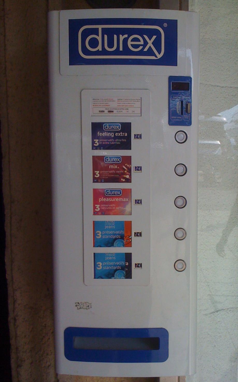 Condom vending machine sunbox