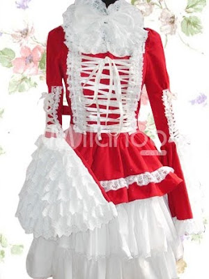 Como evitar ser una Ita.   Sweet-Red-Long-Sleeves-Cotton-Lolita-Dress-30720-1