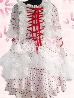 Como evitar ser una Ita.   Sweet-White-With-Red-Dots-Long-Sleeves-Bow-Cotton-Lolita-Dress-30696-1