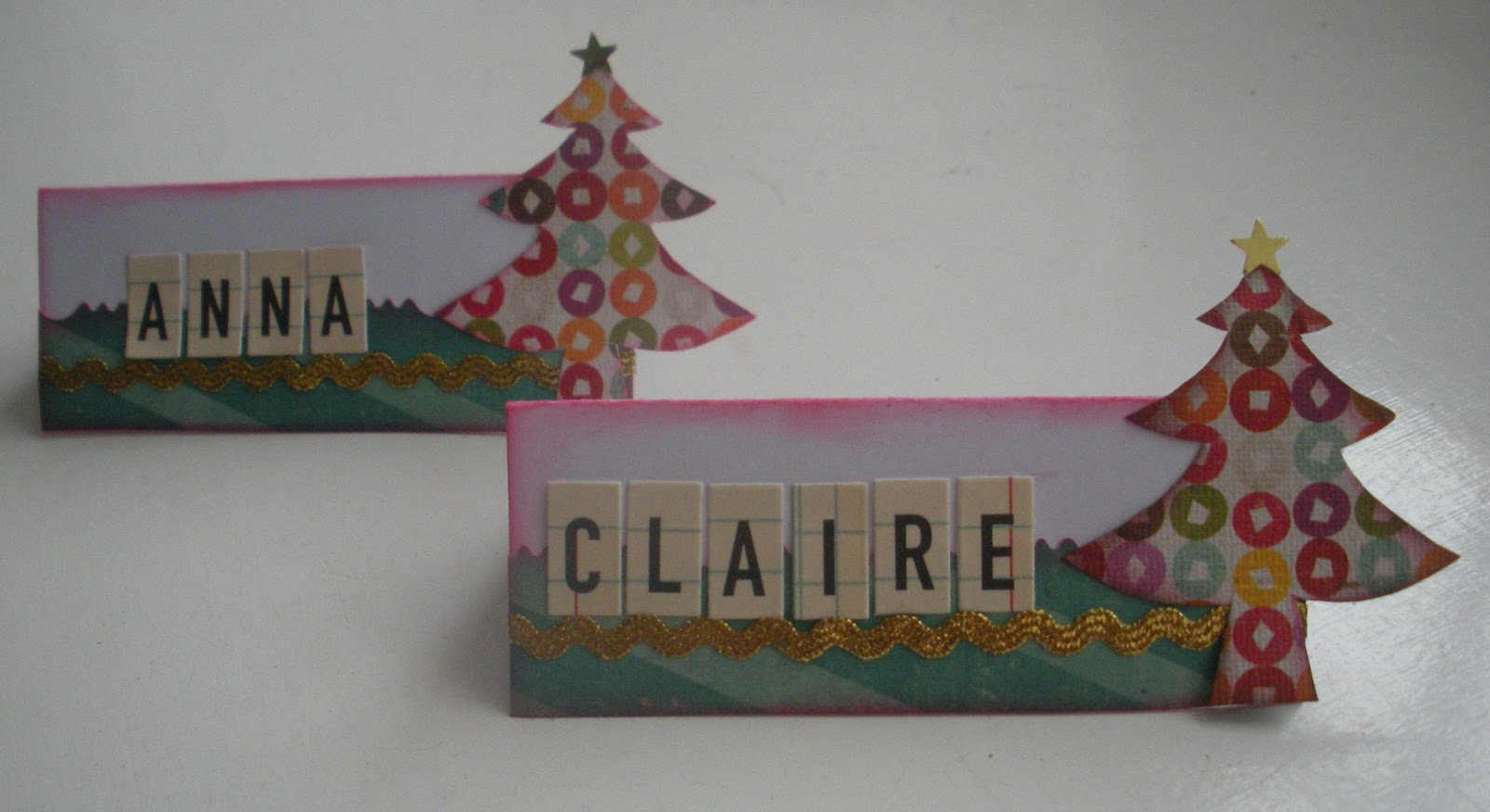 The Studio Challenges Quick And Easy Christmas Place Cards