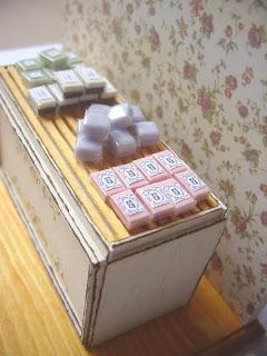 1/12 dollhouse miniature soap display shelf