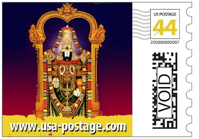 Shirdi Sai Baba in US Postage Stamp With Hindu Deities