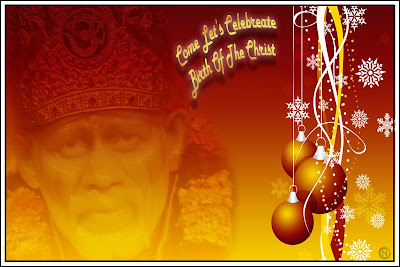 Shirdi Sai Christmas Wallpaper 4