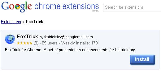 Foxtrick para Google Chrome