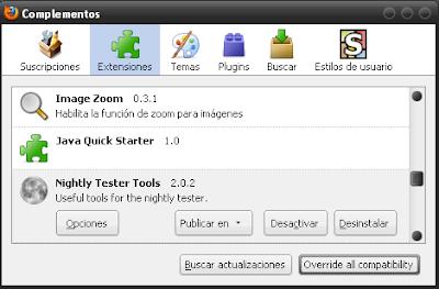 Compatibilidad complementos de Hattrick y Firefox