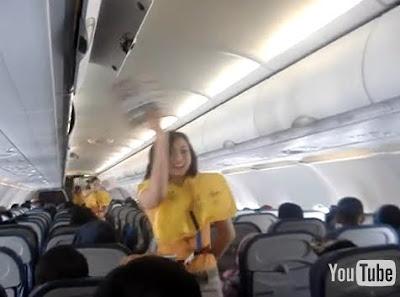 空姐 跳舞 逃生 - 菲律賓空姐跳舞教人逃生