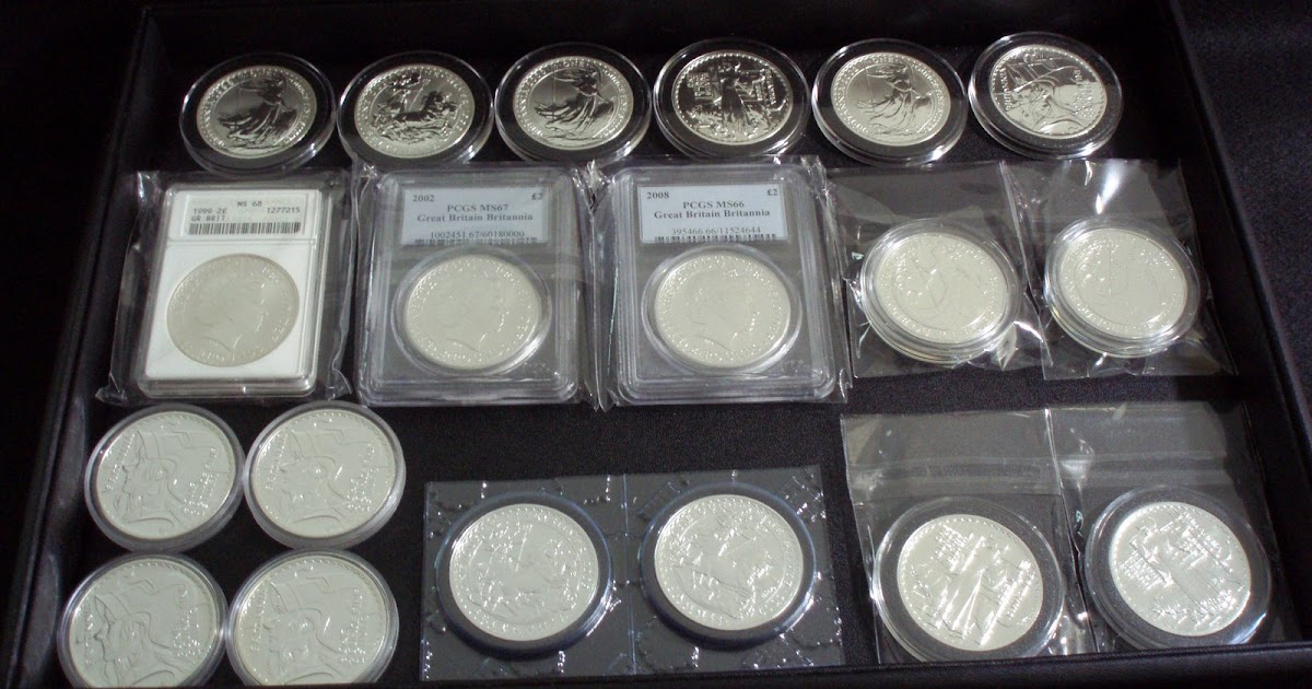 Silver coins collection british britannia