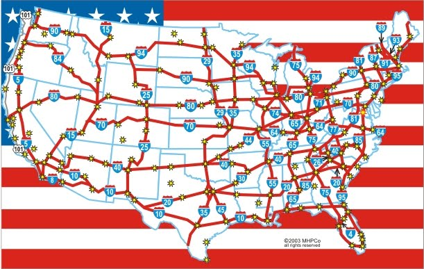 the interstate highway system in america Nationwide highway systems did not originate with the interstate highway system, but predated it the lincoln highway, first envisioned in 1913, was one of america's most famous highways.