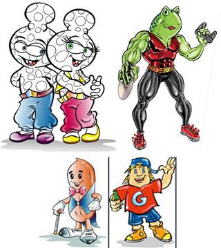 Personagens Mascotes
