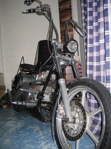 day of life backyard garage custom bobber chopper pt 1