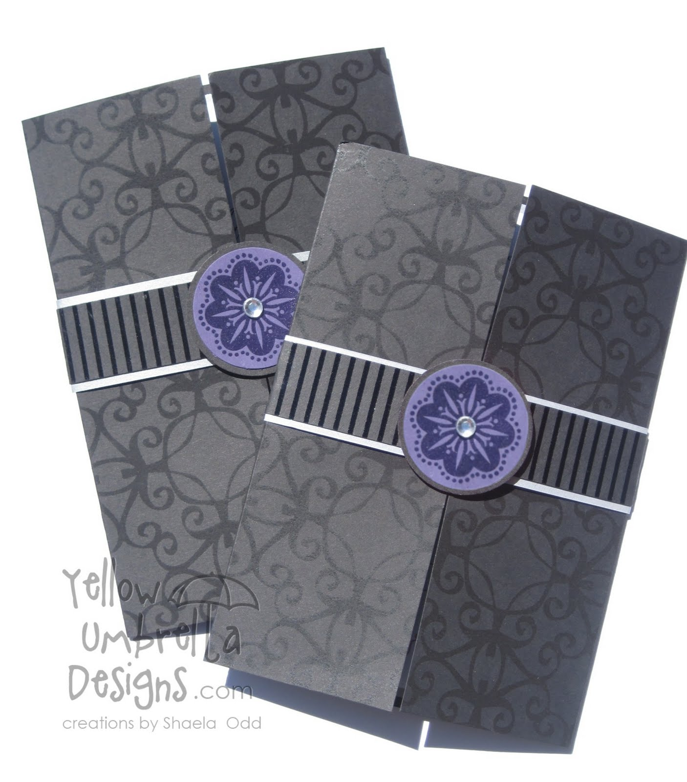 wedding invitation purple silver