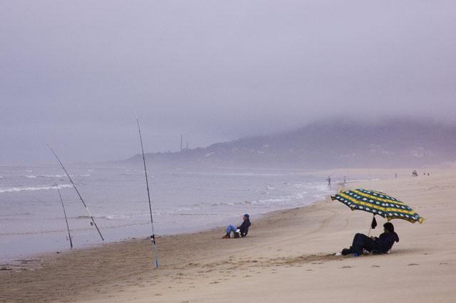 À pesca num dia de Outono - Praia de Moledo, Caminha