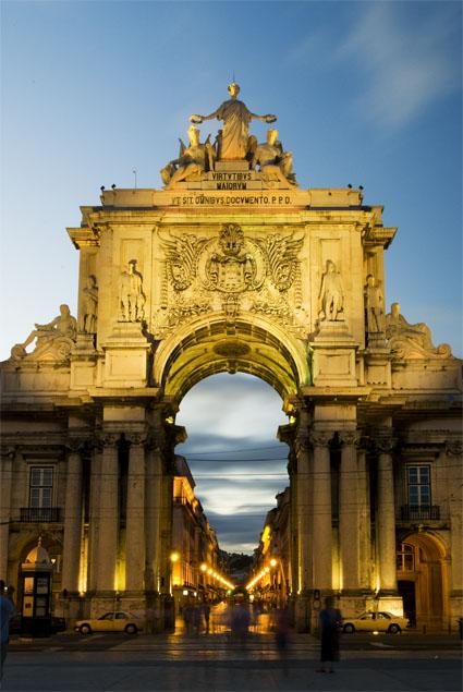 Arco da Rua Augusta - Lisboa, uma qualquer noite de Verão