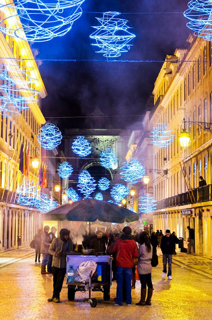 Quentes e boas! - Rua Augusta, Lisboa, Natal 2009