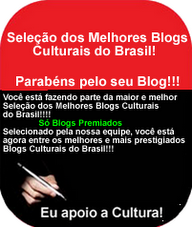 Selo dos Melhores Blogs Culturais do Brasil