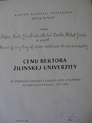 Ocenenia v minulosti - ESE 2002