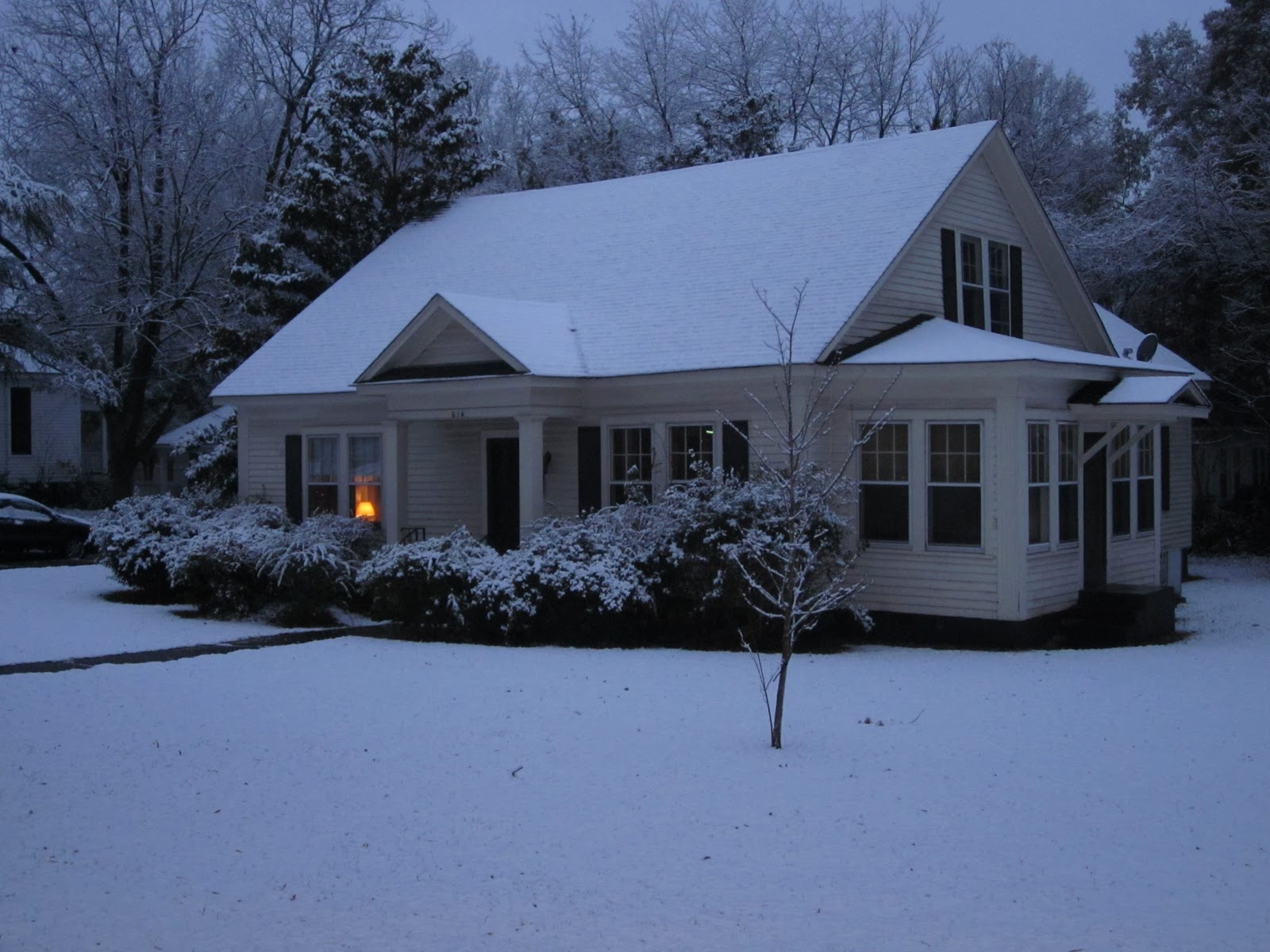 Christmas House With Snow Of our house in the snow