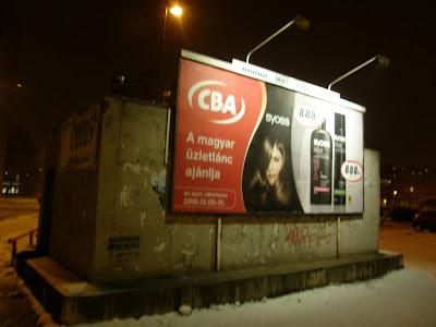 Rózsa utca, Budapest, CBA, reklám, óriásplakát, street art,  gerillamarketing, vandalizmus, reklám, óriásplakát, Újpest, IV. kerület