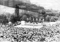 Budapest, Demszkigrád, hotel, I. kerület, koncert, szalloda, színpad, Tabán