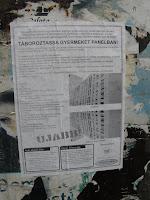 Budapest, Kétfarkú Kutya Párt, lakótelep, mkkp, Mária utca, panel, plakát, street art, VIII. kerület