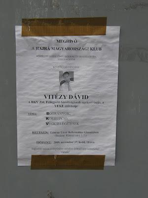 Vitézy Dávid, BKV Zrt, Budapest,  Ferencváros, vadplakát, Lónyay utca,  Református Gimnázium